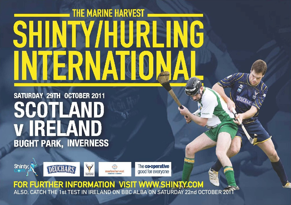 Scots Win Shinty / Hurling Warm Up Match.