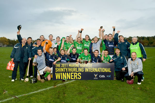 Marine Harvest Shinty / Hurling international - Scotland (1-11) 14-15 (2-9) Ireland.