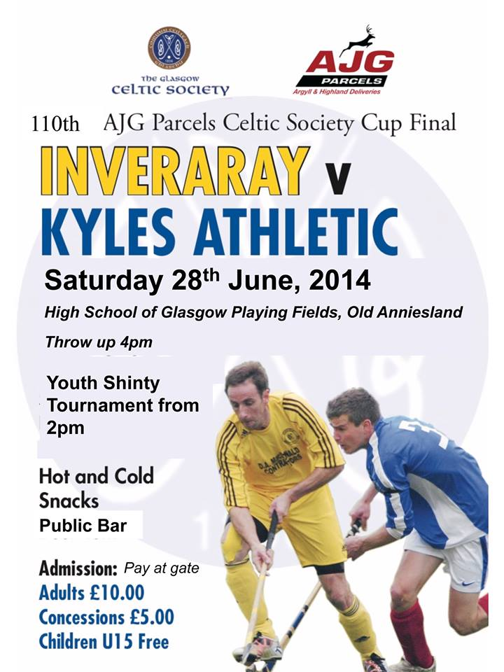 2014 AJG Parcels Glasgow Celtic Society Cup Final ............. 3 Days To Go