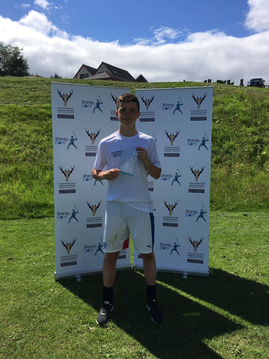 2016 Shinty Camp - John Gillies Named Player of the Camp