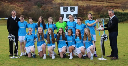 Skye Camanachd Ladies Presented With Marine Harvest National Division 1 Trophy