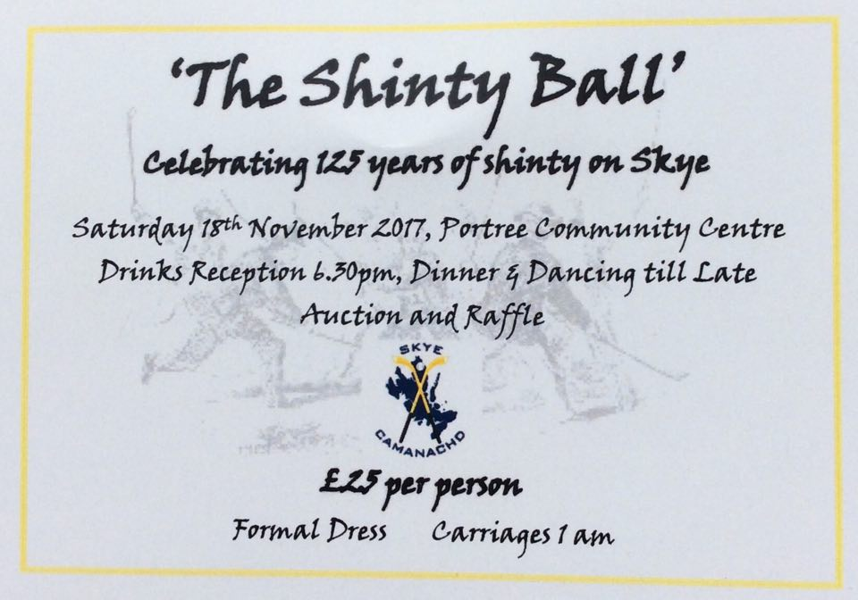 The Shinty Ball – Celebrating 125 Years of Shinty on Skye