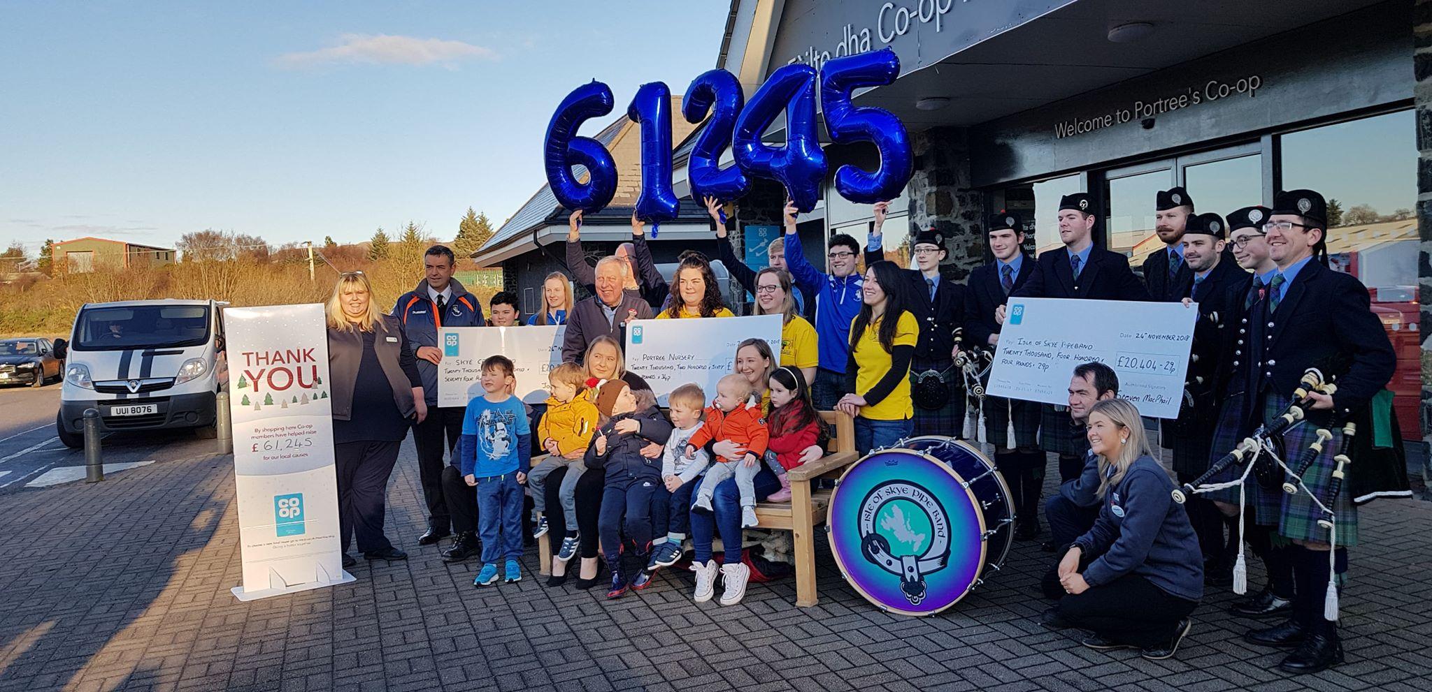 Skye Camanachd Benefit From Co-op Local Community Fund