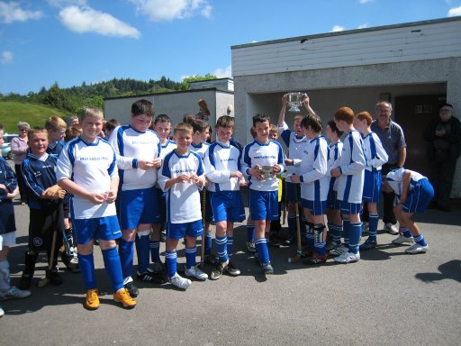 Portree Side Being Given Cup